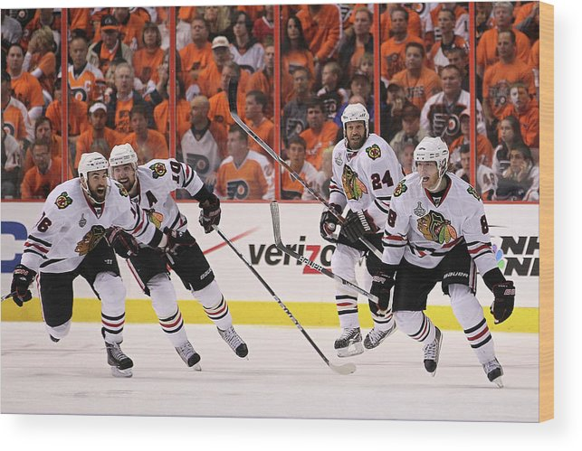 Playoffs Wood Print featuring the photograph Stanley Cup Finals - Chicago Blackhawks by Bruce Bennett