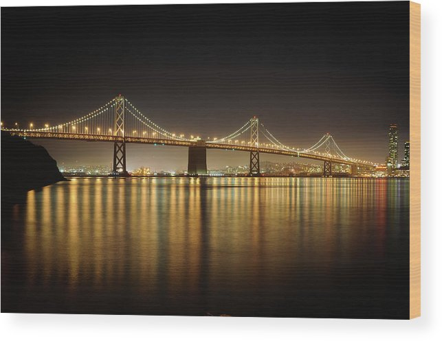 Tranquility Wood Print featuring the photograph The Bay Bridge - San Francisco by Www.35mmnegative.com