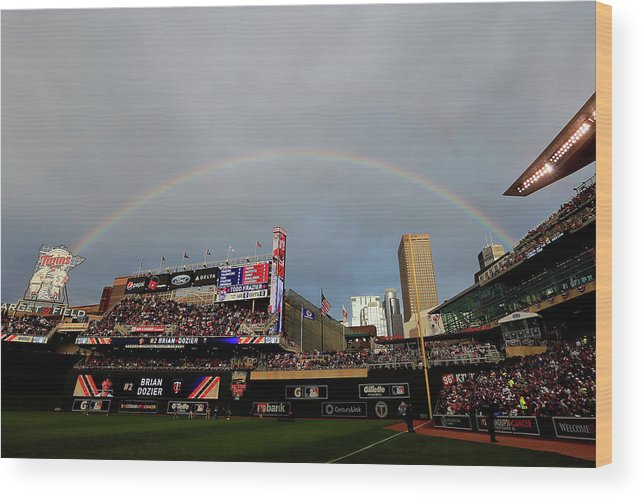 American League Baseball Wood Print featuring the photograph The Gillette Home Run Derby by Rob Carr