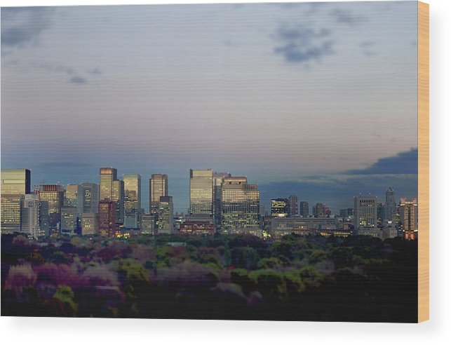 Financial District Wood Print featuring the photograph Tokyo Marunouchi by Vladimir Zakharov