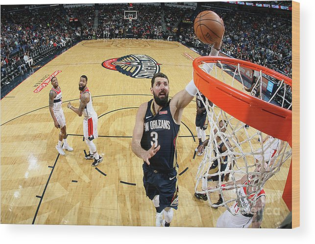 Smoothie King Center Wood Print featuring the photograph Washington Wizards V New Orleans by Layne Murdoch Jr.