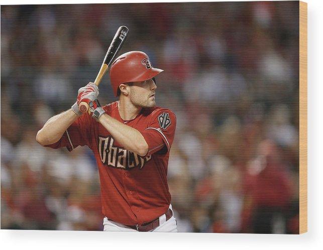 American League Baseball Wood Print featuring the photograph New York Mets V Arizona Diamondbacks by Christian Petersen