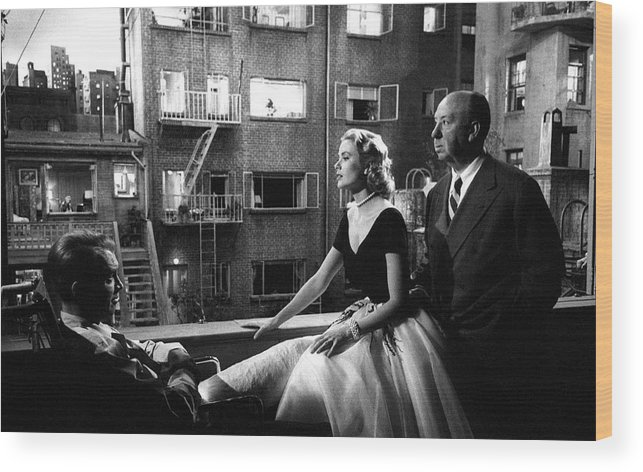 Jimmy Stewart Wood Print featuring the photograph Rear Window by Michael Ochs Archives
