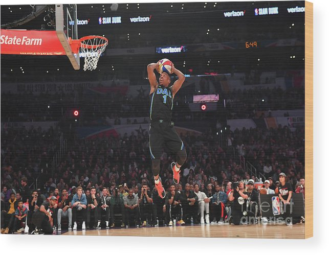 Event Wood Print featuring the photograph Verizon Slam Dunk Contest 2018 by Jesse D. Garrabrant