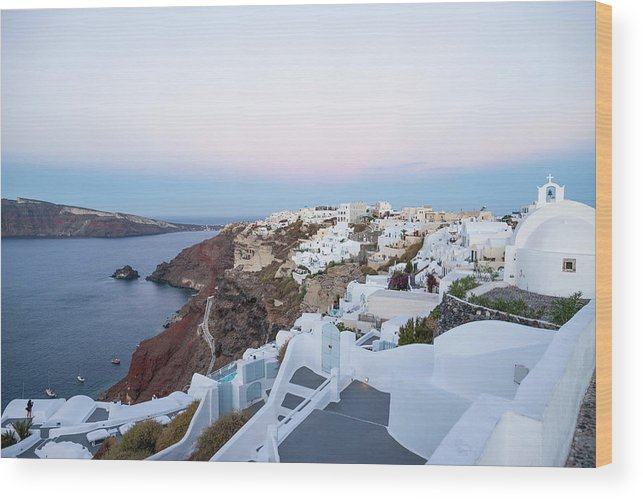 Tranquility Wood Print featuring the photograph Santorini Greece by Neil Emmerson