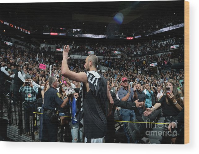 Crowd Wood Print featuring the photograph Golden State Warriors V San Antonio by Mark Sobhani