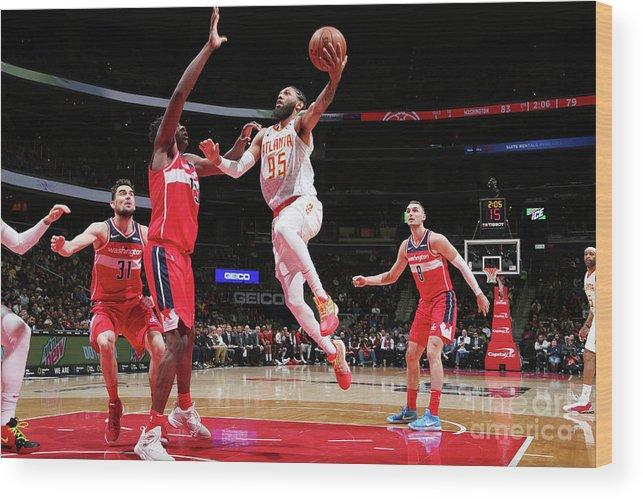 Nba Pro Basketball Wood Print featuring the photograph Atlanta Hawks V Washington Wizards by Ned Dishman