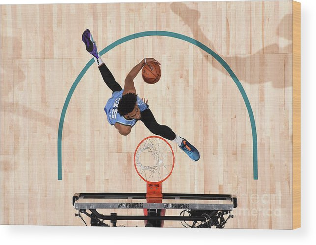 Nba Pro Basketball Wood Print featuring the photograph 2019 Mtn Dew Ice Rising Stars by Andrew D. Bernstein