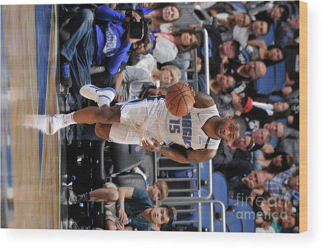 Nba Pro Basketball Wood Print featuring the photograph Brooklyn Nets V Orlando Magic by Gary Bassing