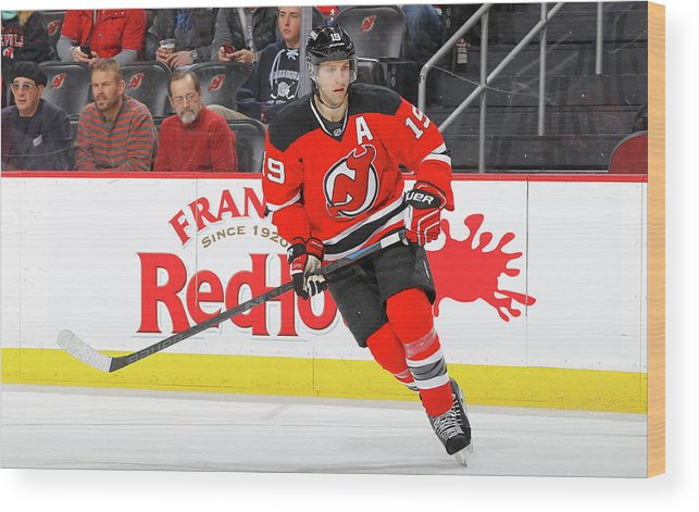 People Wood Print featuring the photograph Buffalo Sabres V New Jersey Devils by Jim Mcisaac