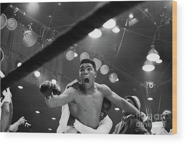 People Wood Print featuring the photograph Cassius Clay After Winning Championship by Bettmann