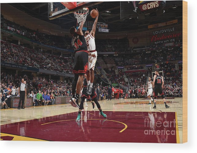 Nba Pro Basketball Wood Print featuring the photograph Chicago Bulls V Cleveland Cavaliers by David Liam Kyle