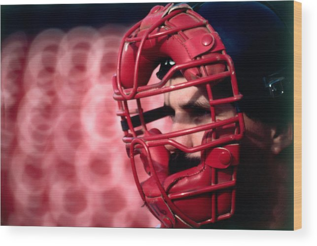1980-1989 Wood Print featuring the photograph Cleveland Indians by Ronald C. Modra/sports Imagery