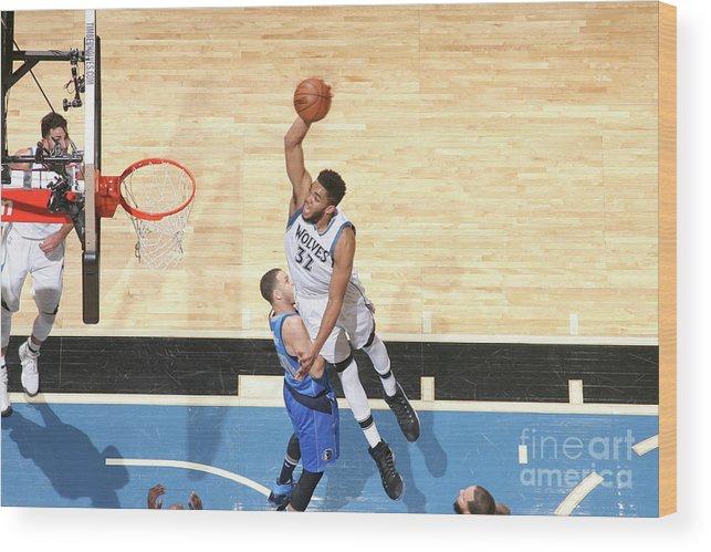 Nba Pro Basketball Wood Print featuring the photograph Dallas Mavericks V Minnesota by David Sherman