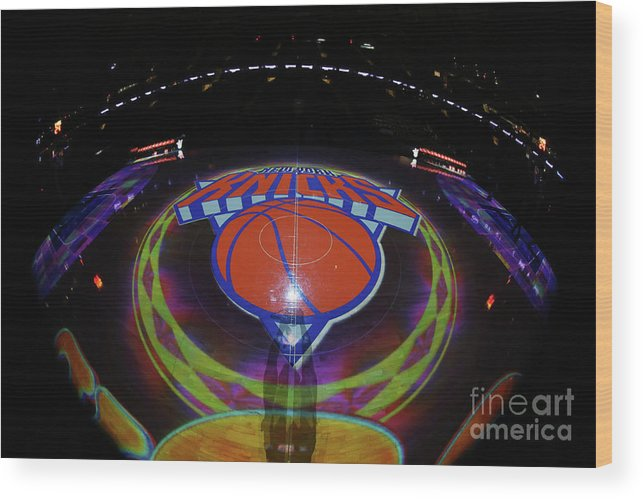Nba Pro Basketball Wood Print featuring the photograph Sacramento Kings V New York Knicks by Nathaniel S. Butler