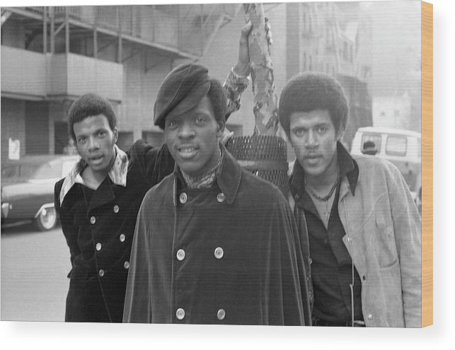 Event Wood Print featuring the photograph The Delfonics In Ny by Michael Ochs Archives