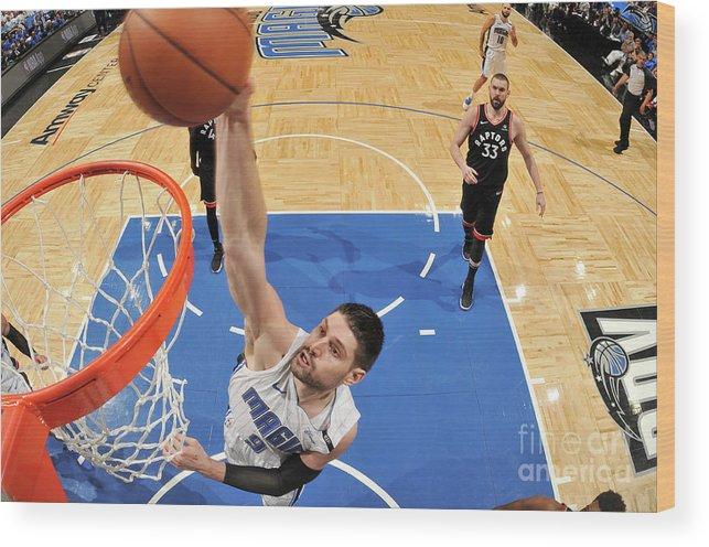 Playoffs Wood Print featuring the photograph Toronto Raptors V Orlando Magic - Game by Fernando Medina