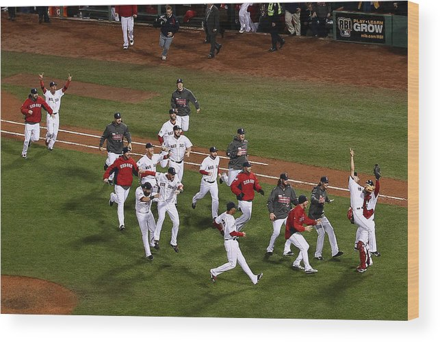 St. Louis Cardinals Wood Print featuring the photograph World Series - St Louis Cardinals V by Alex Trautwig