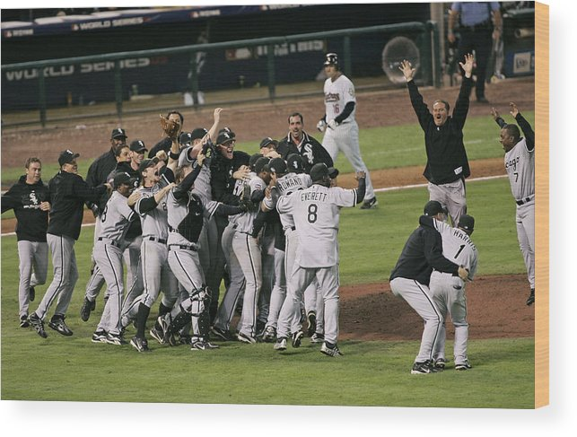 People Wood Print featuring the photograph 2005 World Series - Chicago White Sox by G. N. Lowrance