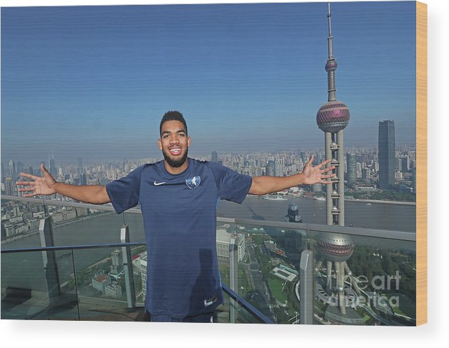Event Wood Print featuring the photograph 2017 Nba Global Games - China by Joe Murphy