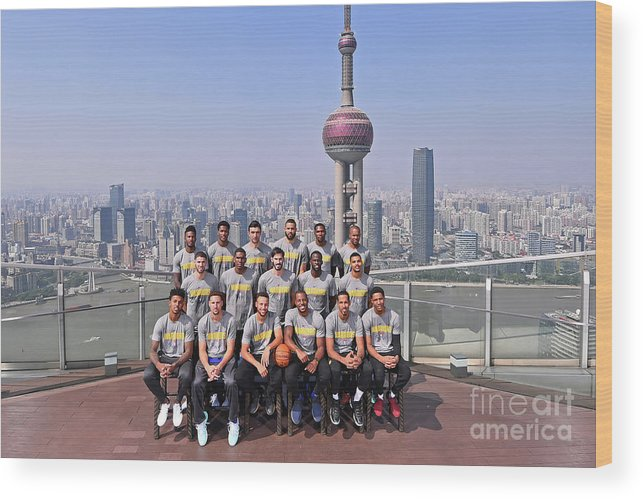 Event Wood Print featuring the photograph 2017 Nba Global Games - China by Noah Graham