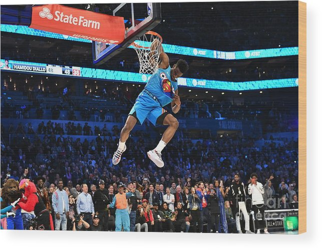 Nba Pro Basketball Wood Print featuring the photograph 2019 At&t Slam Dunk by Jesse D. Garrabrant