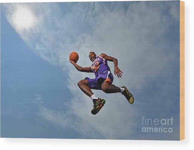 Nba Pro Basketball Wood Print featuring the photograph 2017 Nba Rookie Photo Shoot by Jesse D. Garrabrant