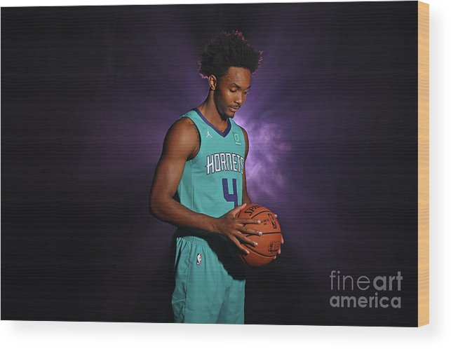 Nba Pro Basketball Wood Print featuring the photograph 2018 Nba Rookie Photo Shoot by Jesse D. Garrabrant