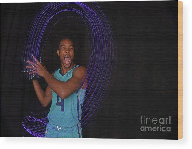 Nba Pro Basketball Wood Print featuring the photograph 2018 Nba Rookie Photo Shoot by Brian Babineau