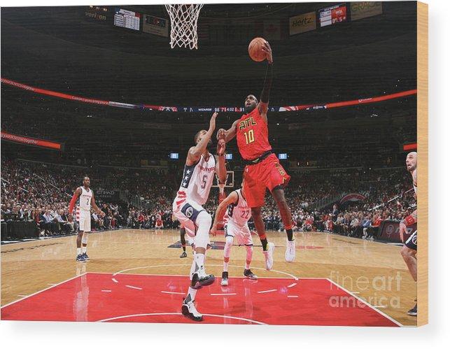 Tim Hardaway Jr. Wood Print featuring the photograph Atlanta Hawks V Washington Wizards - by Ned Dishman