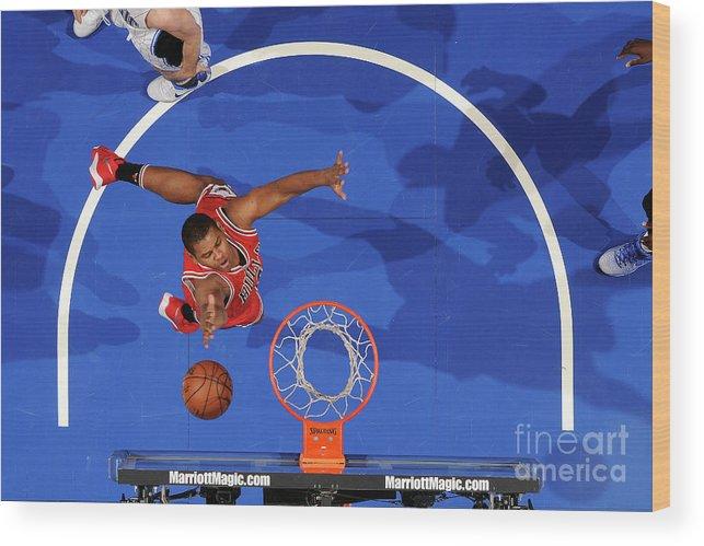 Nba Pro Basketball Wood Print featuring the photograph Chicago Bulls V Orlando Magic by Fernando Medina