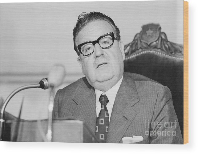 People Wood Print featuring the photograph Chilean President Salvador Allende by Bettmann