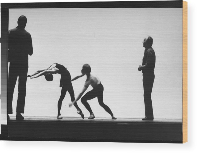 Timeincown Wood Print featuring the photograph George Balanchine by Gjon Mili