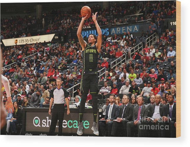 Atlanta Wood Print featuring the photograph Miami Heat V Atlanta Hawks by Kevin Liles