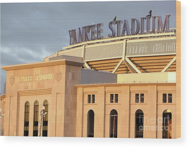 Game Two Wood Print featuring the photograph Philadelphia Phillies V New York by Jed Jacobsohn