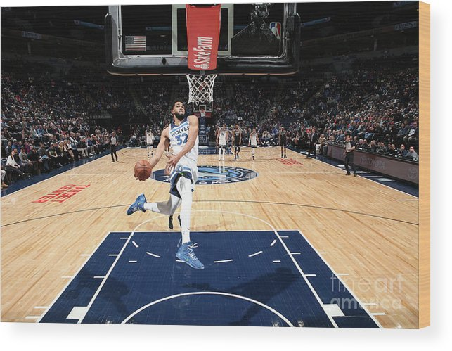 Nba Pro Basketball Wood Print featuring the photograph Sacramento Kings V Minnesota by David Sherman