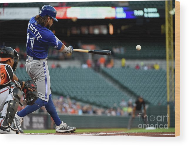 People Wood Print featuring the photograph Toronto Blue Jays V Baltimore Orioles by Will Newton