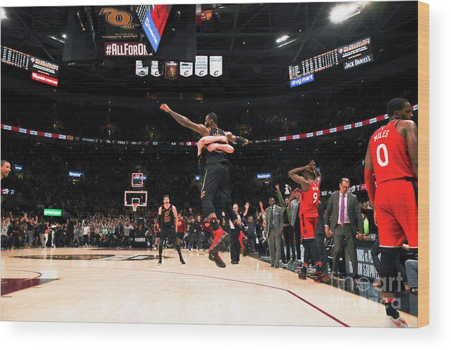 Playoffs Wood Print featuring the photograph Toronto Raptors V Cleveland Cavaliers - by Jeff Haynes