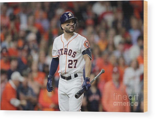 American League Baseball Wood Print featuring the photograph World Series - Washington Nationals V by Elsa