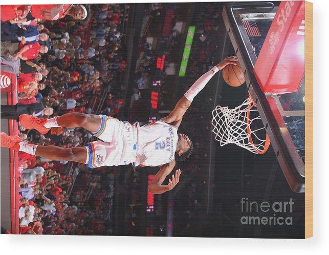Nba Pro Basketball Wood Print featuring the photograph Oklahoma City Thunder V Houston Rockets by Bill Baptist