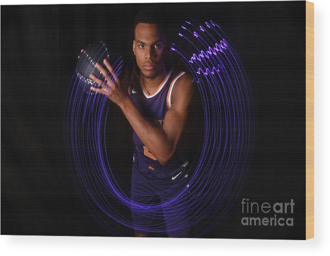 Nba Pro Basketball Wood Print featuring the photograph 2018 Nba Rookie Photo Shoot by Brian Babineau