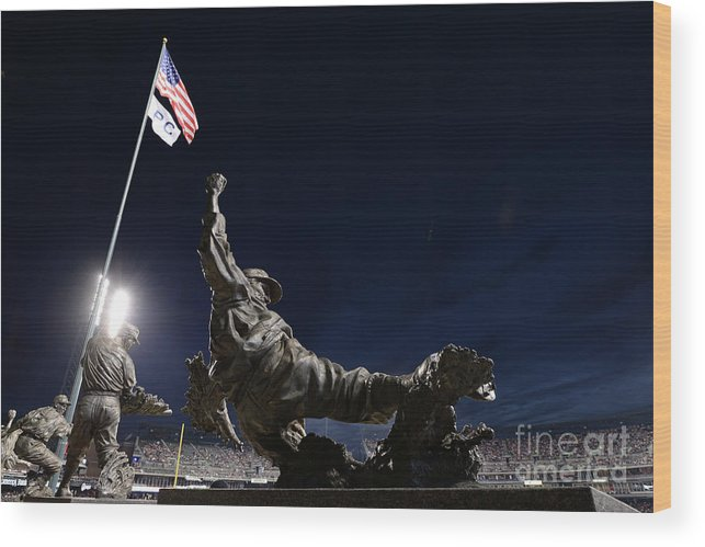 Crowd Wood Print featuring the photograph Chicago White Sox V Detroit Tigers by Mark Cunningham