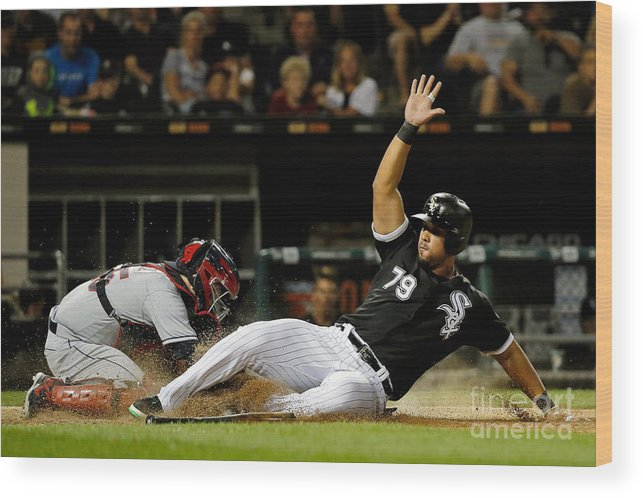 People Wood Print featuring the photograph Cleveland Indians V Chicago White Sox by Jon Durr