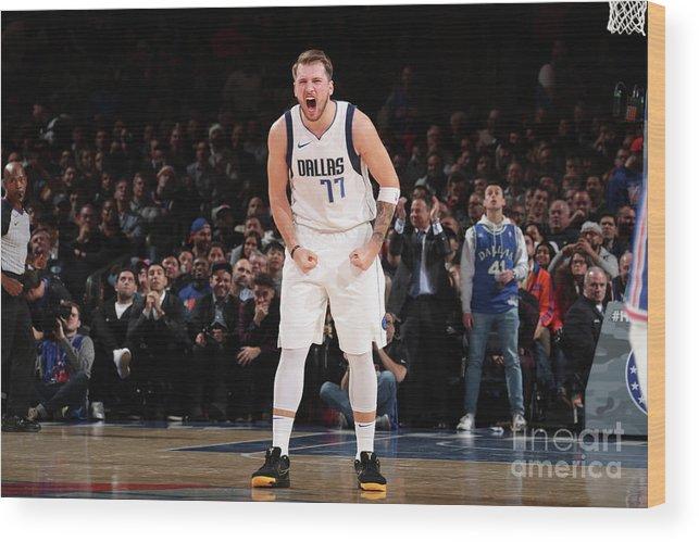 Nba Pro Basketball Wood Print featuring the photograph Dallas Mavericks V New York Knicks by Nathaniel S. Butler