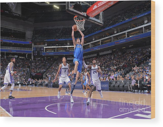 Nba Pro Basketball Wood Print featuring the photograph Dallas Mavericks V Sacramento Kings by Rocky Widner