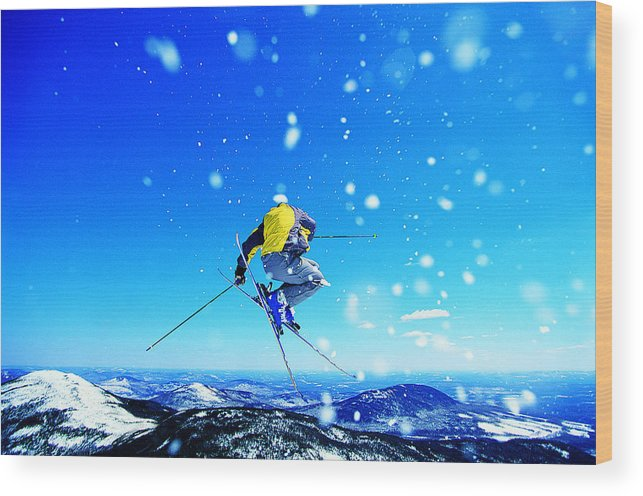 Skiing Wood Print featuring the photograph Man Skiing by Digital Vision.