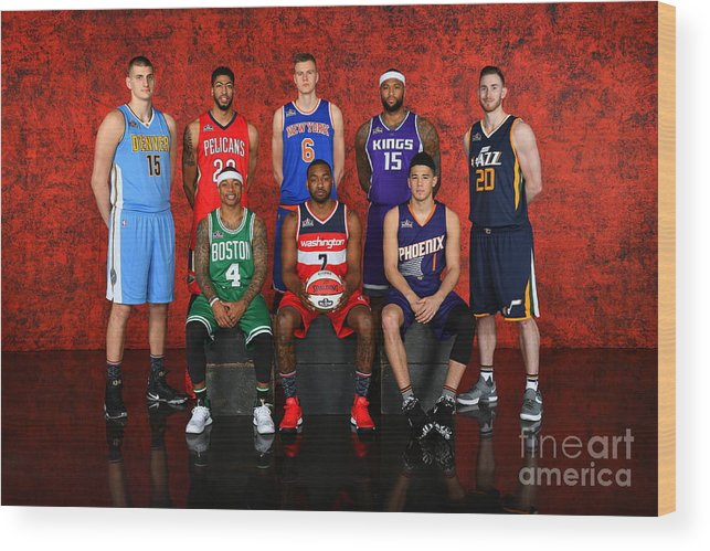 Event Wood Print featuring the photograph Nba All-star Portraits 2017 by Jesse D. Garrabrant
