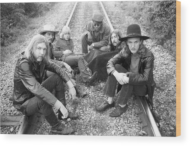 Music Wood Print featuring the photograph Photo Of Allman Brothers by Michael Ochs Archives