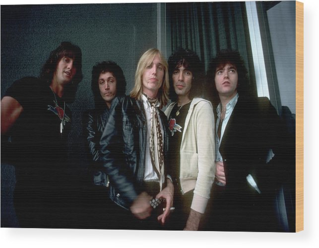 Music Wood Print featuring the photograph Photo Of Tom Petty & The Heartbreakers by Michael Ochs Archives