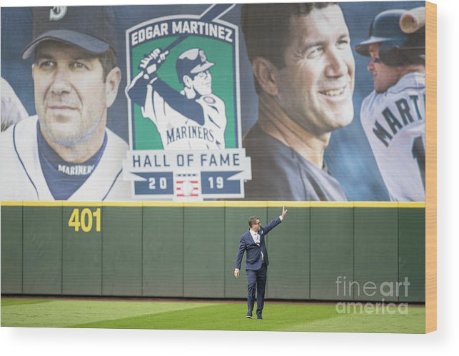 Crowd Wood Print featuring the photograph Tampa Bay Rays V Seattle Mariners by Stephen Brashear